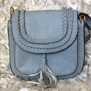 Handbags - 🌸🌸Saddle style blue over the shot/crossbody bag
